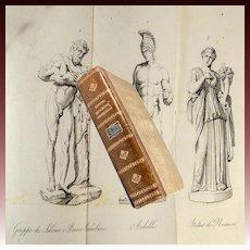 RARE BOOK: 1837 Illustrated, Monumenti Scelti Borghesiani (Borghese Museum Sculptures), Intaglio Prints