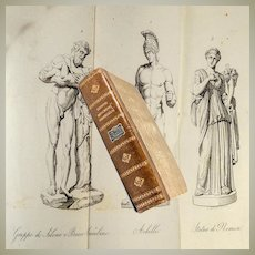 RARE BOOK: 1837 Illustrated, Monumenti Scelti Borghesiani (Borghese Museum Sculptures), Intaglio Prints