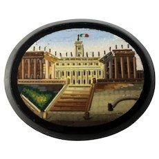 Antique 19th c. Unmounted Micro Mosaic, Basilica di Santa Maria Maggiore Rome
