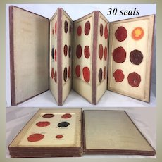 RARE 1700s - 1800s Collection, Book of 30 Wax Seals, Official and Royal Included
