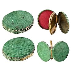 Antique Georgian Shagreen Locket, Portrait Miniature Etui