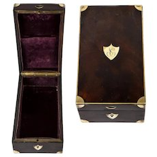 Antique French Military Officer's Field Campaign Instrument Box, Kit, c.1800, Napoleonic,