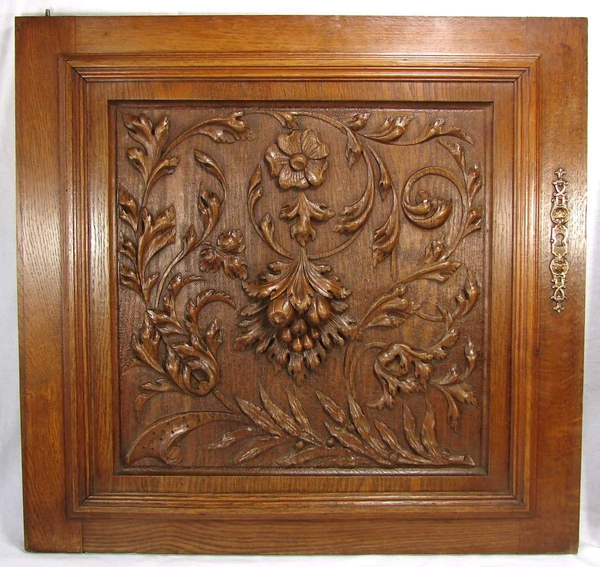 Lg Antique Victorian Era 25 Quot French Black Forest Style Oak