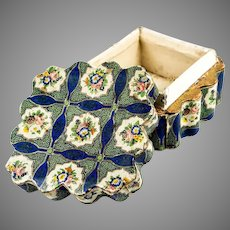 Lovely Antique Napoleon III Era Confectioner's, Chocolatier's Box, Bonbon Casket