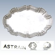 "Lovely Vintage Spain Hallmarked .915 Silver 8"" Calling Card or Vanity Tray, Rococo Styling"