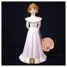 Enesco Growing Up Birthday Girl Figurine Age 13