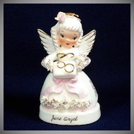 Napco June Angel of the Month Birthday Figurine