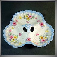 Crown Ducal Floral Clover Shape 3 Section Dish