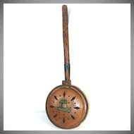 Antique French Copper Chestnut Roasting Pan