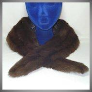 Vintage Mink Fur Collar Stole