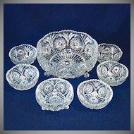 Black Amethyst Glass 7 Inch Shoulder Ginger Jar Vase