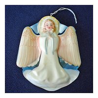 Plastic Angel Christmas Tree Topper Wall Plaque