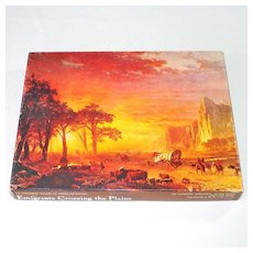 Emigrants Crossing The Plains Fine Art Springbok Jigsaw Puzzle