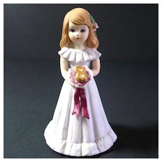 Enesco Growing Up Birthday Girl Figurine Age 8