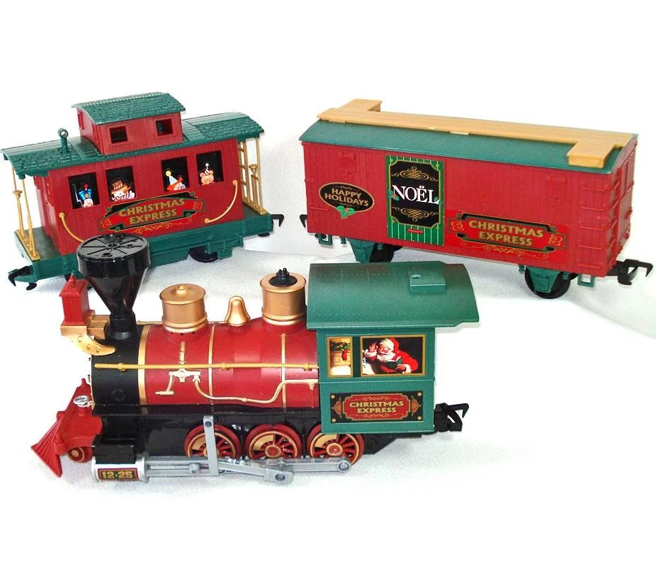 Christmas Train Set.North Pole Express Christmas Train Set