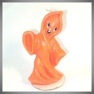 Gurley Orange Halloween Ghost Figural Candle