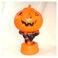 Halloween Blow Mold Decoration With Black Cat, Pumpkin, Skeletons