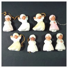 Angels With Brass Wings West Germany Christmas Ornaments