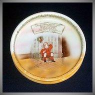 Royal Bayreuth Jack Horner Nursery Rhyme Baby Child Feeding Dish