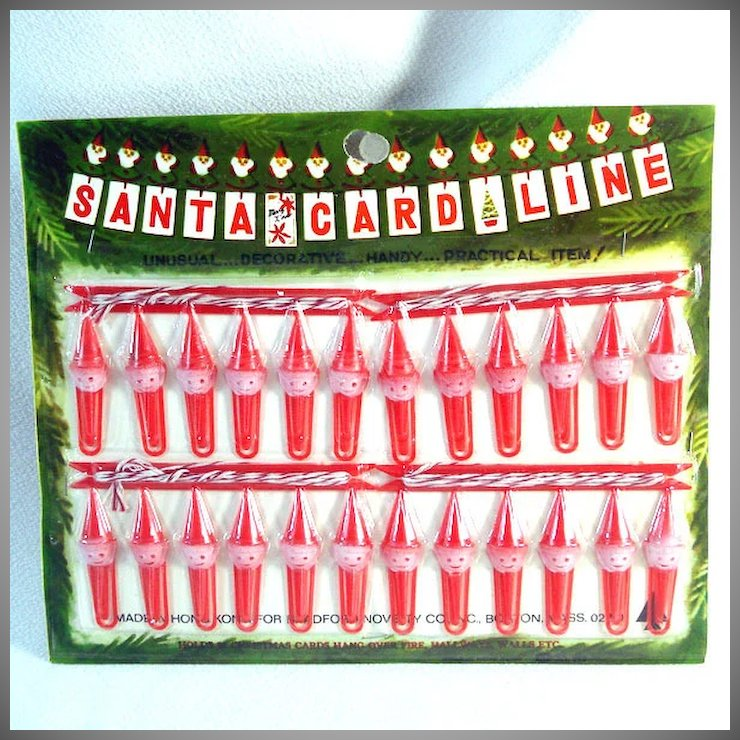 bradford 1960s santa card line christmas cards hanging display mint - Mint Christmas Cards