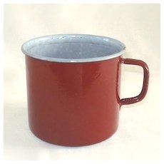 Brown Enamel Graniteware Oversize Coffee Mug