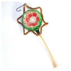 Indent Star Comet Wire Wrapped Christmas Ornament Spun Glass Tail