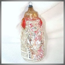 Radio Monkey Antique German Glass Christmas Ornament