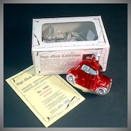 Inge Glass 1983 Car Automobile Christmas Ornament Mint in Box