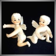 1950s Tinkerbell Fairy Lusterware Candle Climbers Huggers