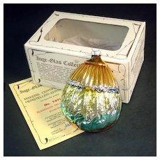 Inge Harvest Blessings 1983 Glass Christmas Ornament Mint in Box