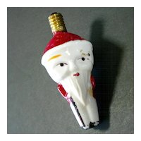 Cone Head Unusual Santa Claus Figural Christmas Light Bulb Working