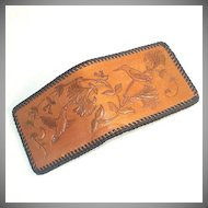 Tooled Leather Wallet With Hummingbirds