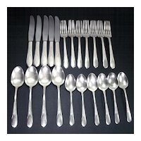 Priscilla Lady Ann 22 Pieces 1941 Rogers Silverplate Flatware