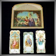 Religious Litho Calendar Top and Embossed Holy Cards