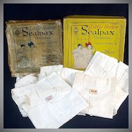 1922 Box 5 Unused Sealpax Girls Undersuits Union Suits Size 4