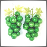 Decorative Green Glass Grape Clusters