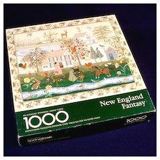 New England Fantasy Springbok 1000 Piece Jigsaw Puzzle Embroidered Sampler