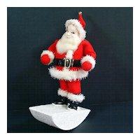 Composition Rocking Santa Claus Christmas Figure