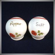 Cronin China Red Rose Deco Ball Salt and Pepper Shakers