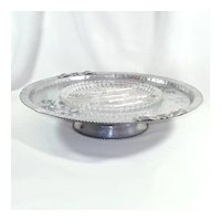 Rodney Kent Tulips Aluminum Lazy Susan With Glass Insert
