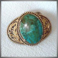 Southwestern Style Turquoise Belt Buckle