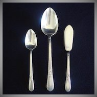 Adoration Rogers Silverplate Master Butter Knife, Serving Spoon, Teaspoon
