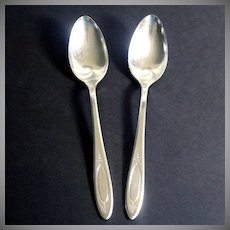 Adam Oneida Community 2 Silverplate Tablespoons Place Spoons