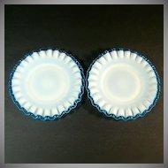 Fenton Aqua Crest 2 Bread or Dessert Plates
