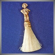 Chalkware Hansel Barber Talc or Clothing Brush