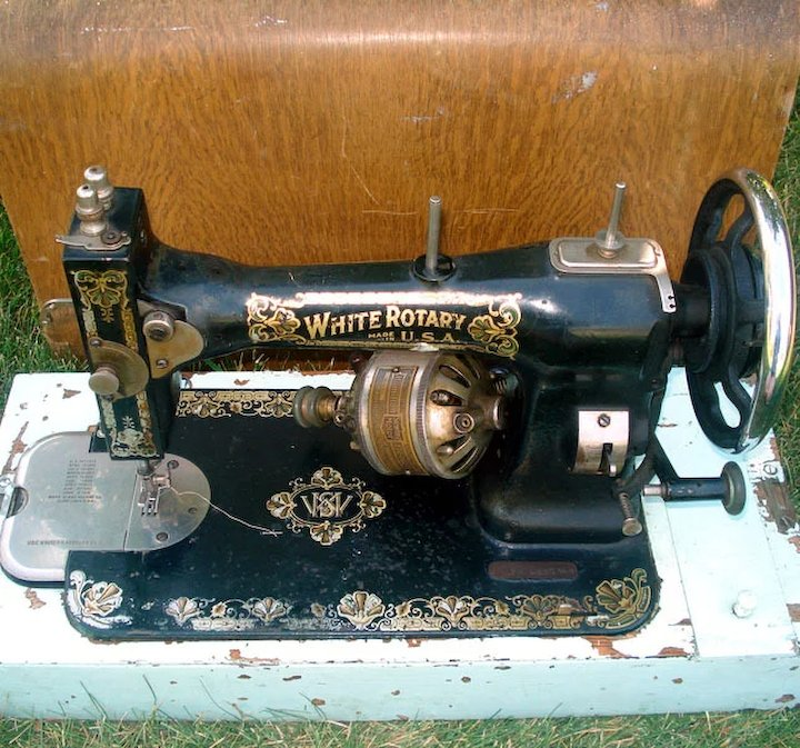 Antique White Rotary 40 Sewing Machine With Oak Case Copperton Inspiration 1913 White Rotary Sewing Machine