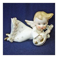 1950s Angel Laying on Side Figurine or Wall Mount