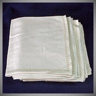 11 Vintage Silk Knit Cream Colored Dinner Napkins