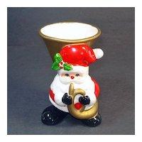 Fitz And Floyd 1976 Santa Claus Christmas Planter Vase