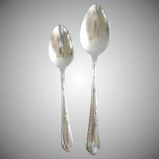 Meadowbrook Rogers Oneida 1936 Silverplate Teaspoon and Tablespoon